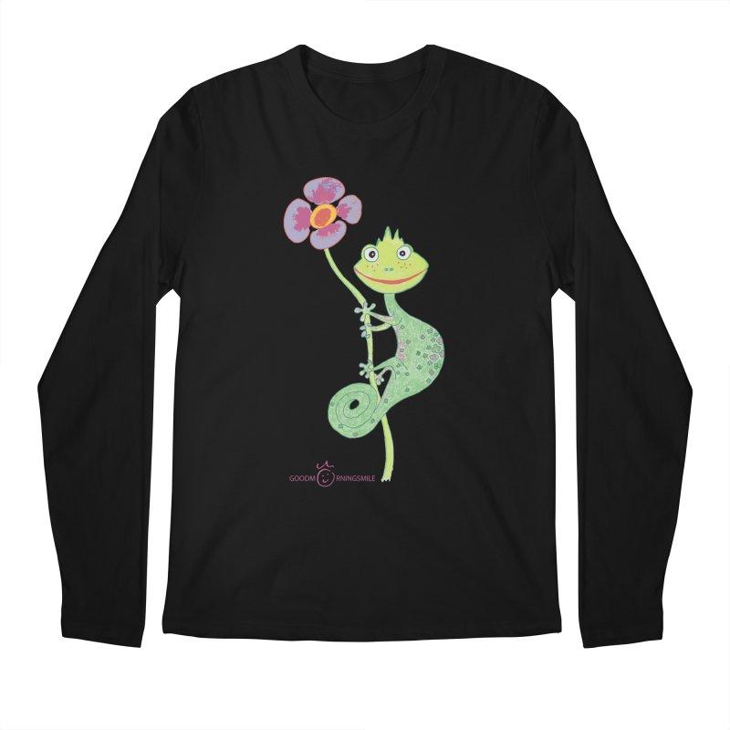 Chameleon Smile Men's Regular Longsleeve T-Shirt by Good Morning Smile