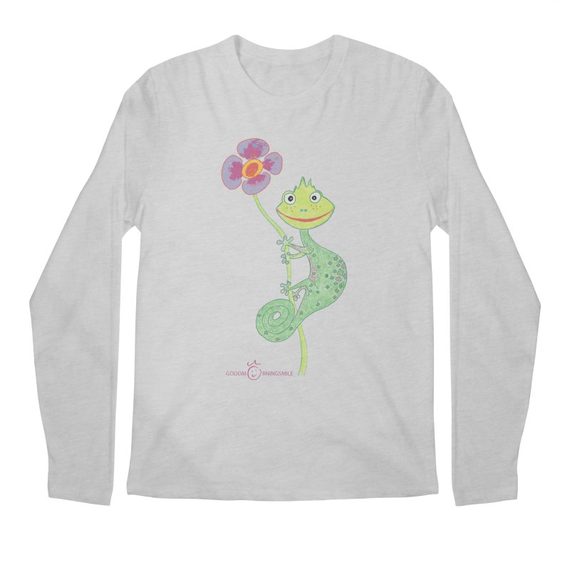 Chameleon Smile Men's Regular Longsleeve T-Shirt by Good Morning Smile