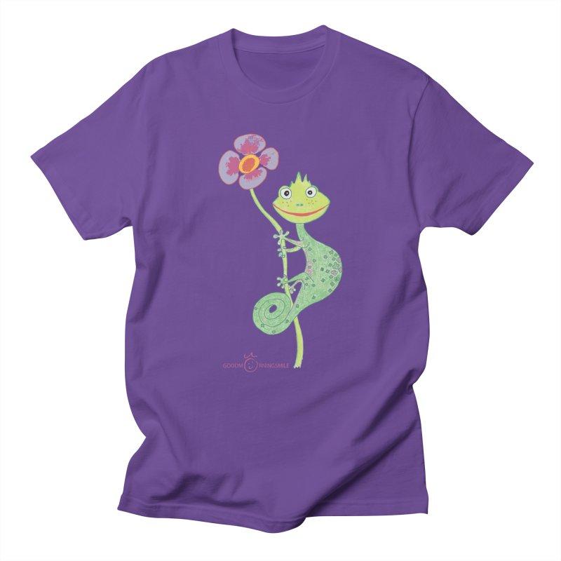 Chameleon Smile Men's Regular T-Shirt by Good Morning Smile