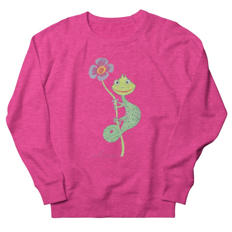 Chameleon Smile Women's French Terry Sweatshirt by Good Morning Smile