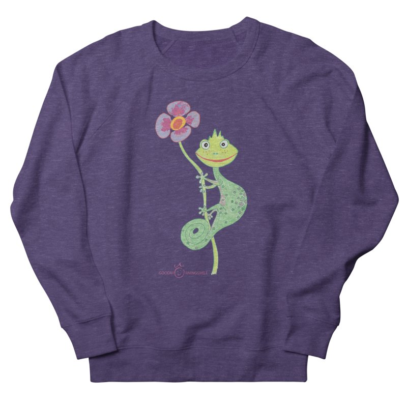 Chameleon Smile Men's French Terry Sweatshirt by Good Morning Smile