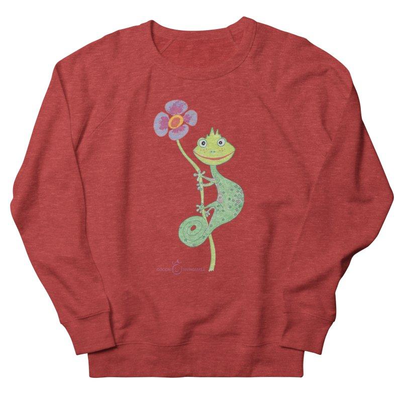 Chameleon Smile Men's French Terry Sweatshirt by Good Morning Smile