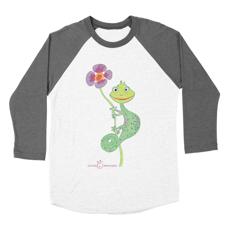 Chameleon Smile Women's Baseball Triblend Longsleeve T-Shirt by Good Morning Smile