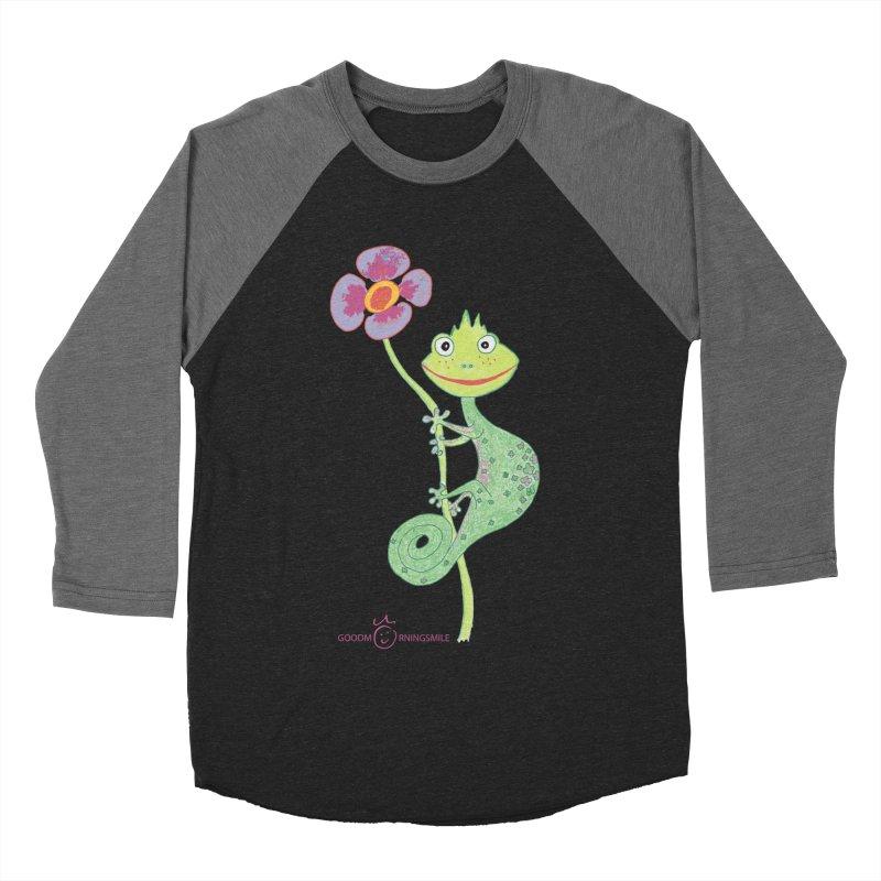 Chameleon Smile Women's Baseball Triblend Longsleeve T-Shirt by Good Morning Smile