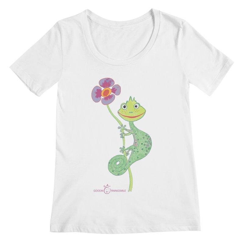 Chameleon Smile Women's Regular Scoop Neck by Good Morning Smile