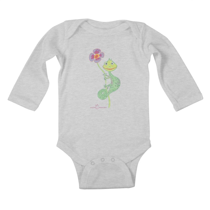 Chameleon Smile Kids Baby Longsleeve Bodysuit by Good Morning Smile