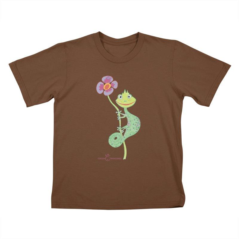 Chameleon Smile Kids T-Shirt by Good Morning Smile