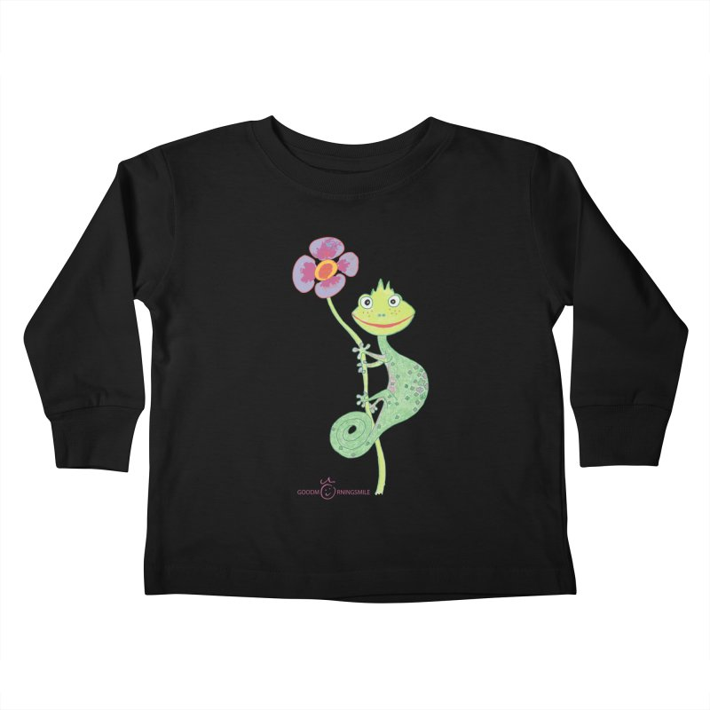 Chameleon Smile Kids Toddler Longsleeve T-Shirt by Good Morning Smile