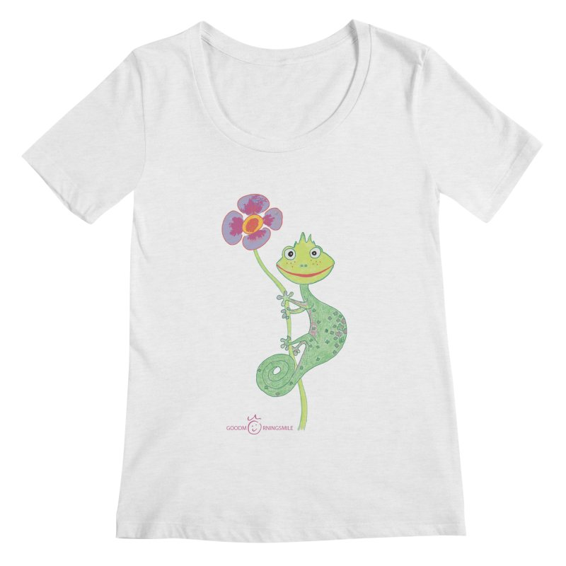 Chameleon Smile Women's Regular Scoop Neck by Good Morning Smile