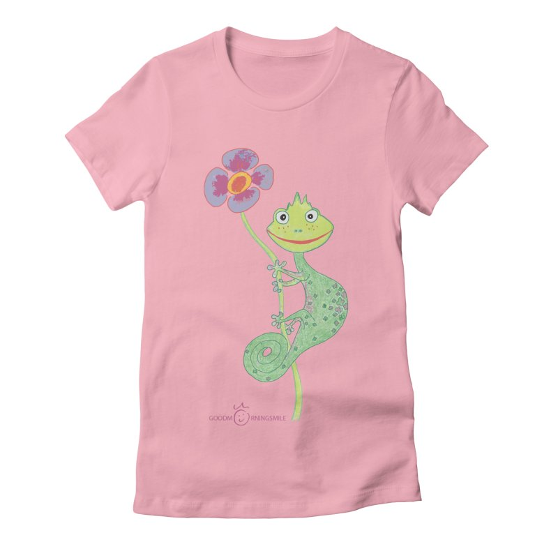 Chameleon Smile Women's Fitted T-Shirt by Good Morning Smile