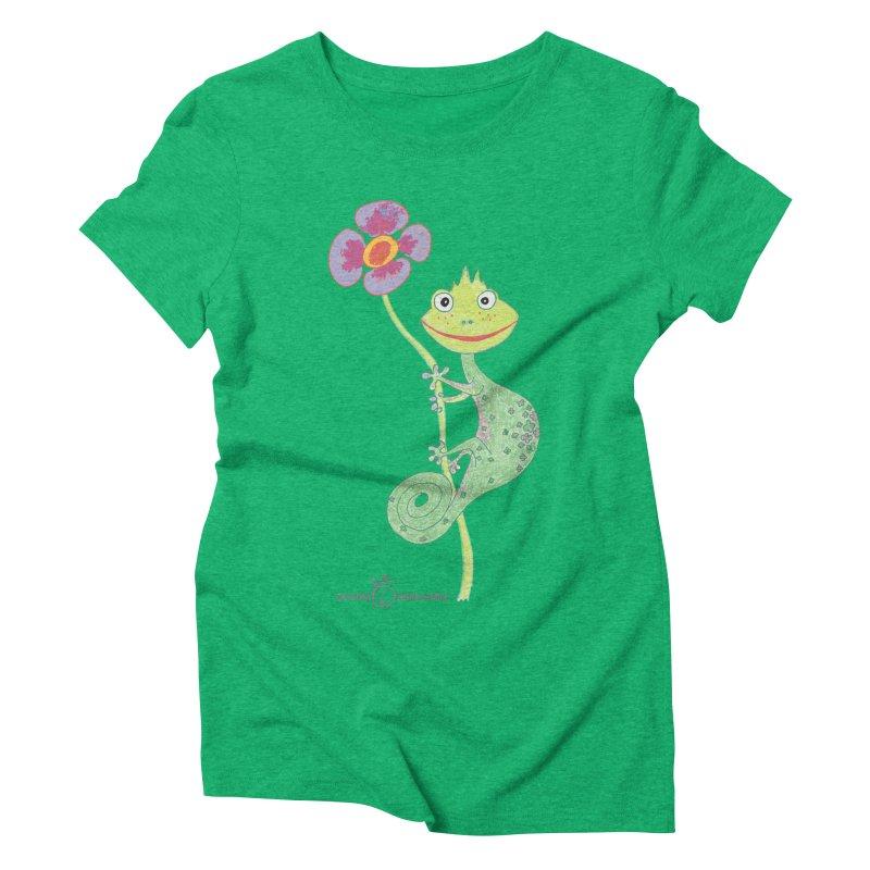 Chameleon Smile Women's Triblend T-Shirt by Good Morning Smile