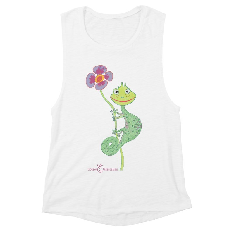 Chameleon Smile Women's Muscle Tank by Good Morning Smile
