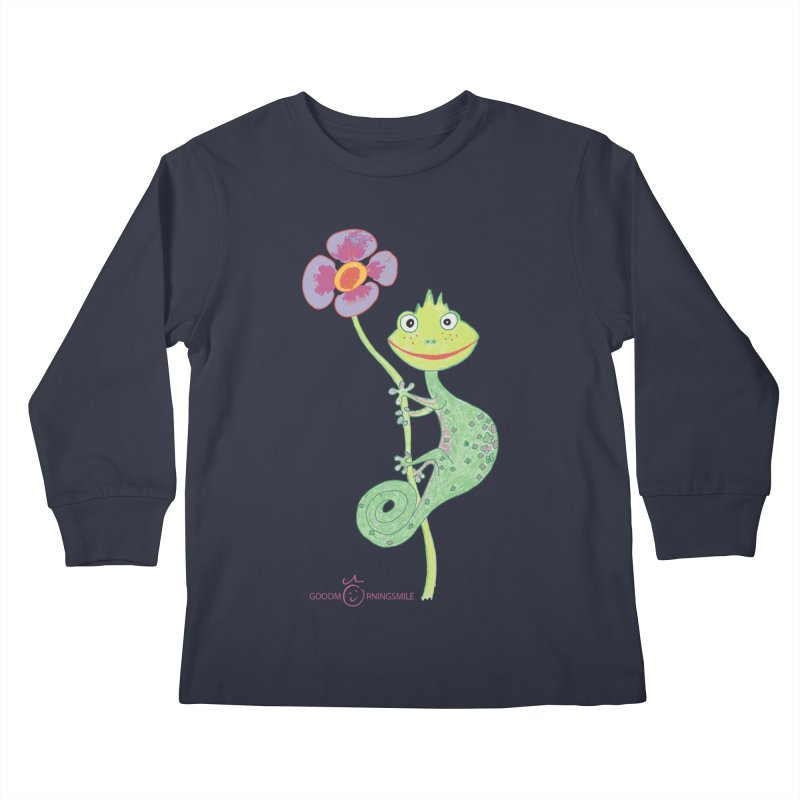 Chameleon Smile Kids Longsleeve T-Shirt by Good Morning Smile