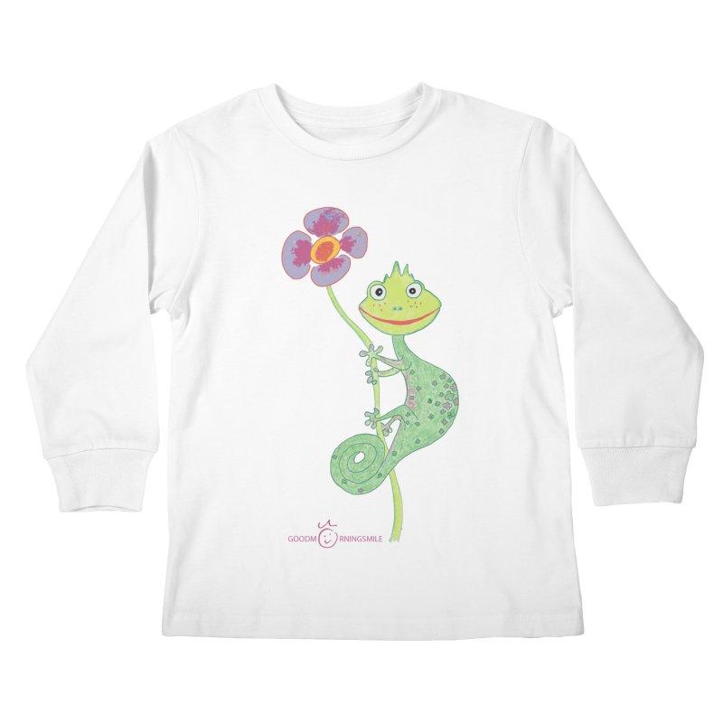 Chameleon Smile Kids Longsleeve T-Shirt by Good Morning Smile