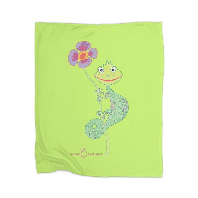 Chameleon Smile Home Blanket by Good Morning Smile