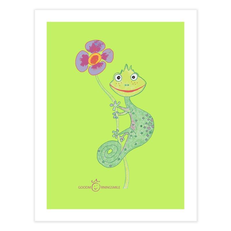 Chameleon Smile Home Fine Art Print by Good Morning Smile