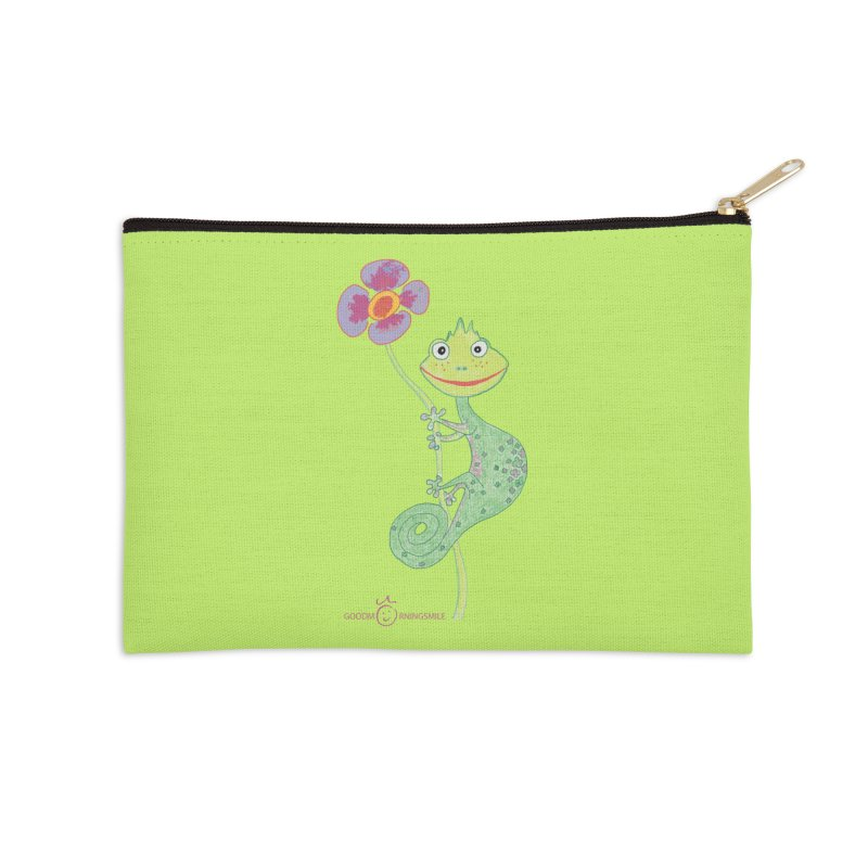 Chameleon Smile Accessories Zip Pouch by Good Morning Smile
