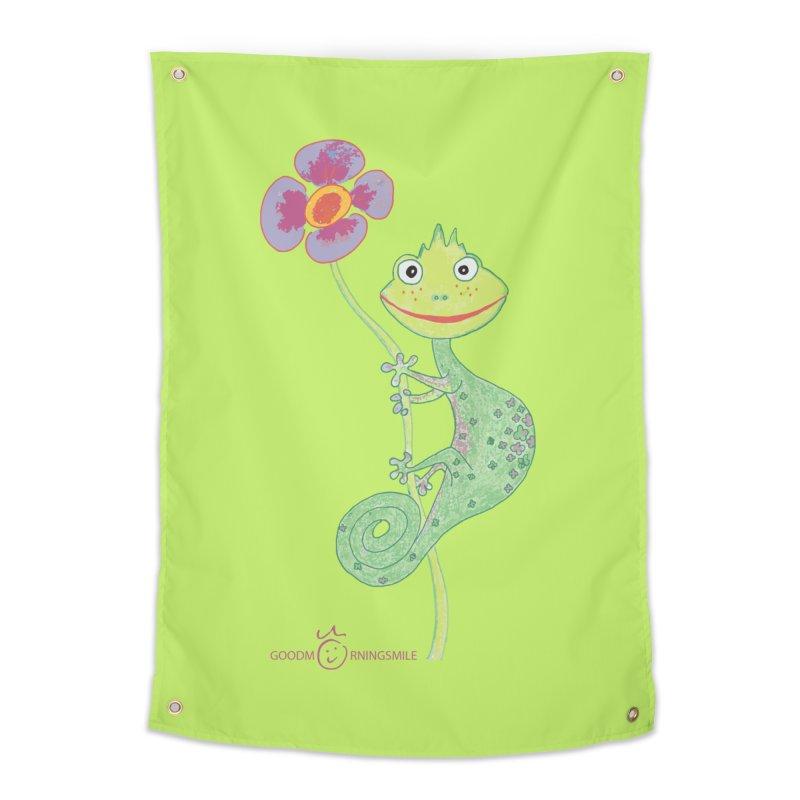Chameleon Smile Home Tapestry by Good Morning Smile