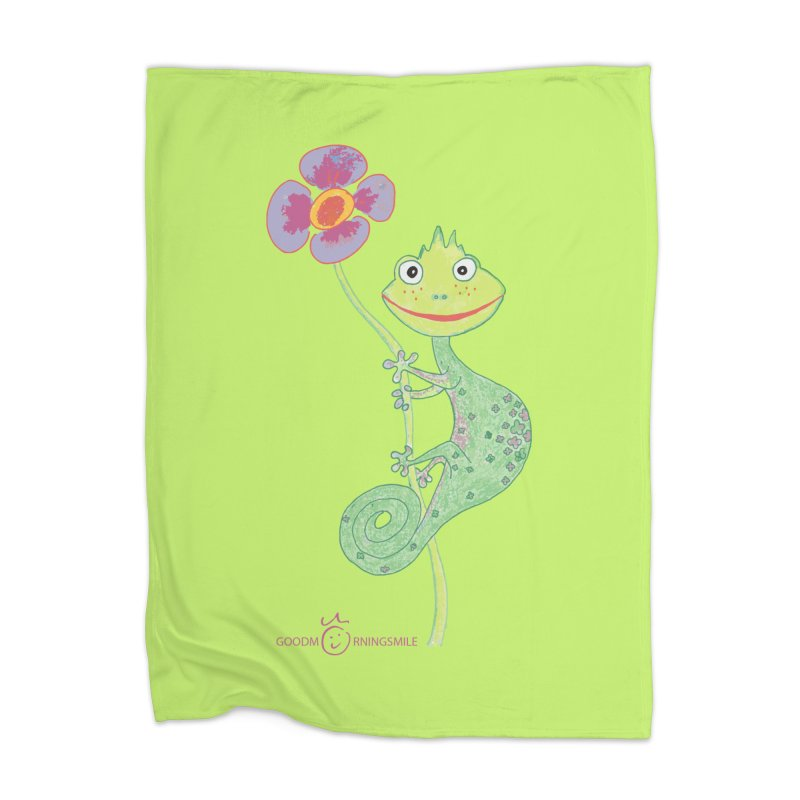 Chameleon Smile Home Blanket by Good Morning Smile