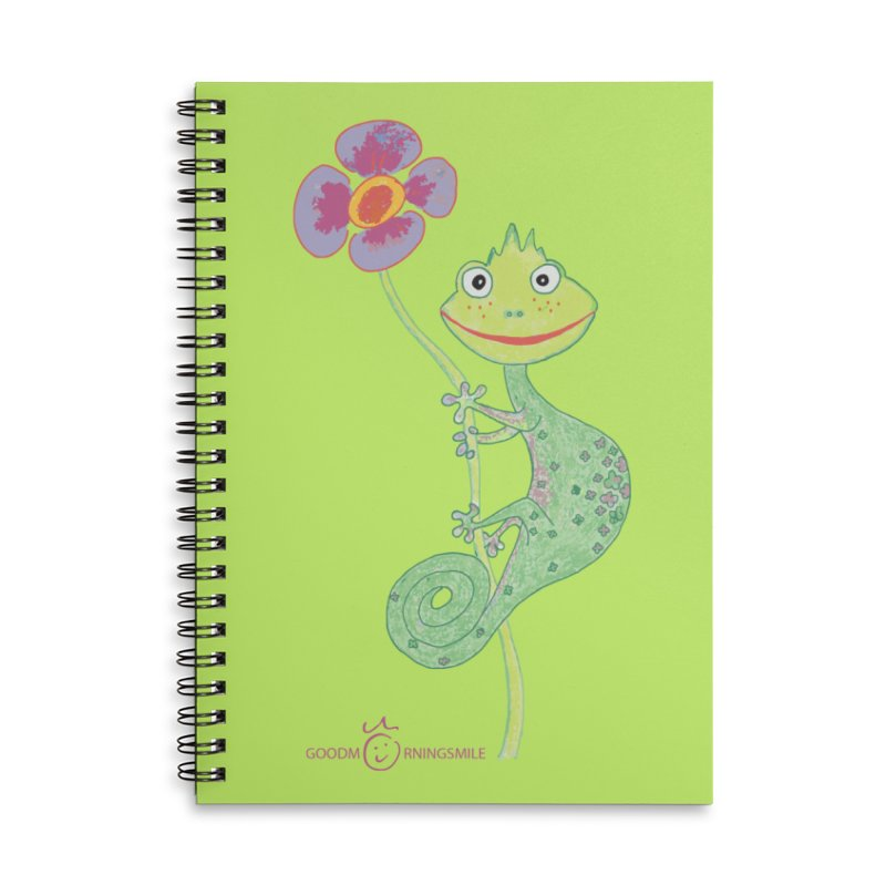 Chameleon Smile Accessories Lined Spiral Notebook by Good Morning Smile