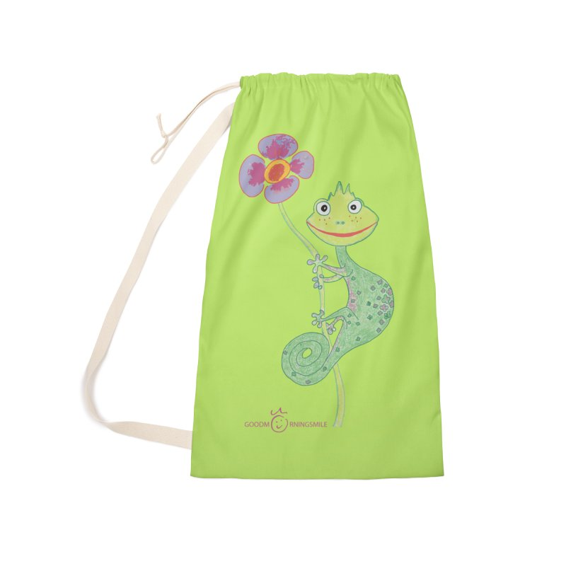 Chameleon Smile Accessories Laundry Bag Bag by Good Morning Smile