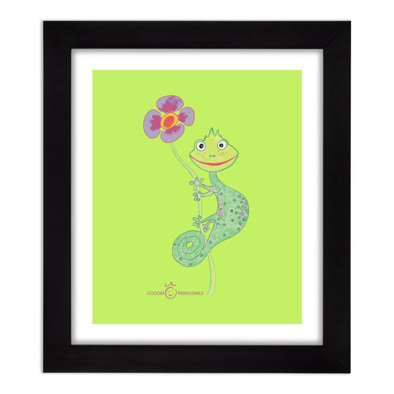Chameleon Smile Home Framed Fine Art Print by Good Morning Smile