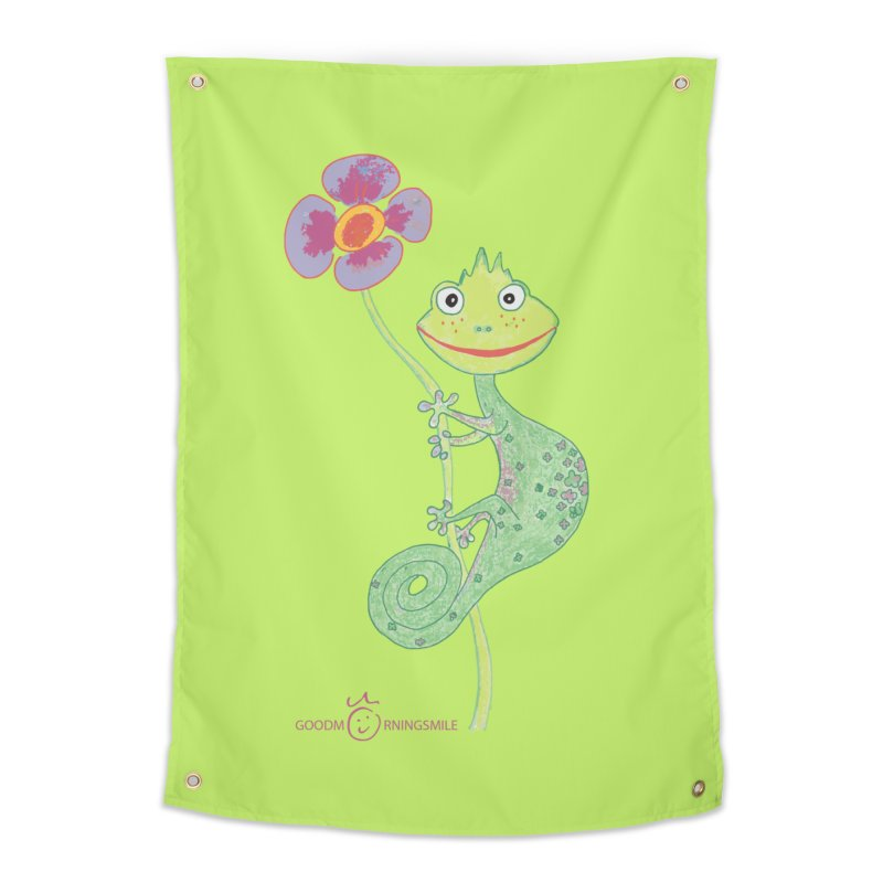 Chameleon Smile Home Tapestry by Good Morning Smile