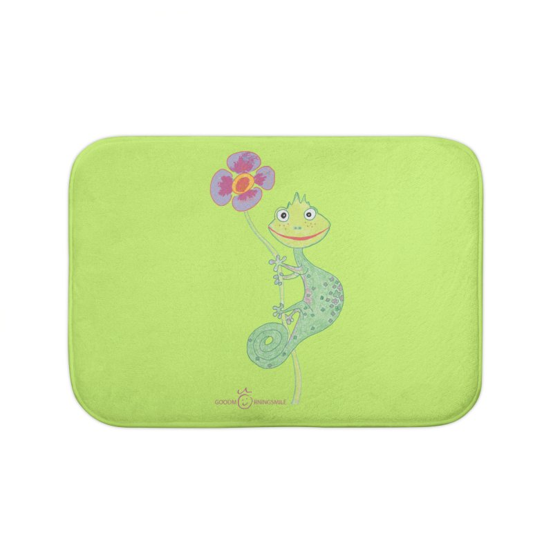 Chameleon Smile Home Bath Mat by Good Morning Smile