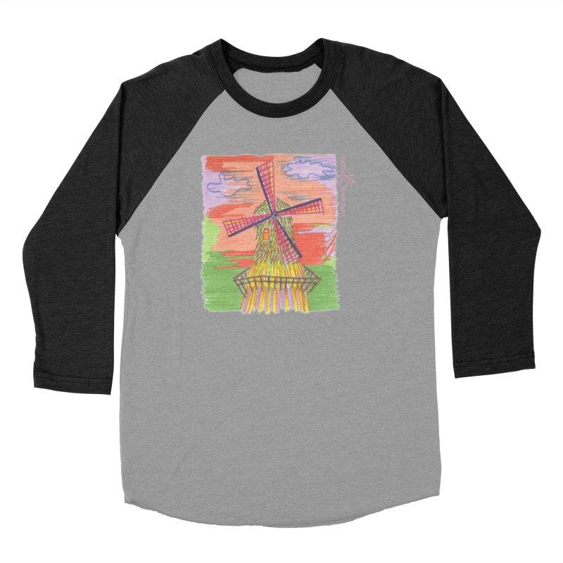 Amsterdam Women's Baseball Triblend Longsleeve T-Shirt by Good Morning Smile