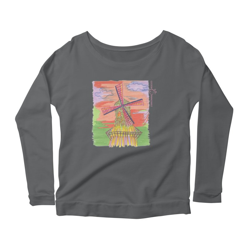 Amsterdam Women's Scoop Neck Longsleeve T-Shirt by Good Morning Smile