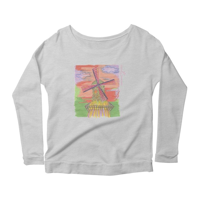 Amsterdam Women's Scoop Neck Longsleeve T-Shirt by Good Morning Smile
