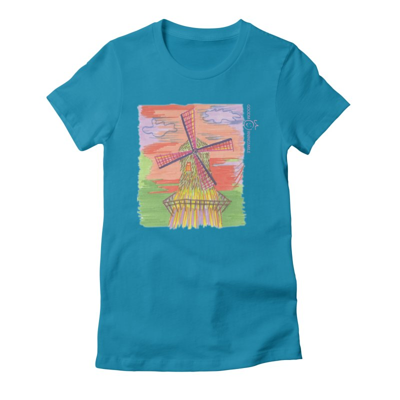 Amsterdam Women's Fitted T-Shirt by Good Morning Smile