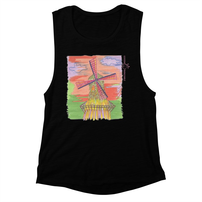 Amsterdam Women's Muscle Tank by Good Morning Smile