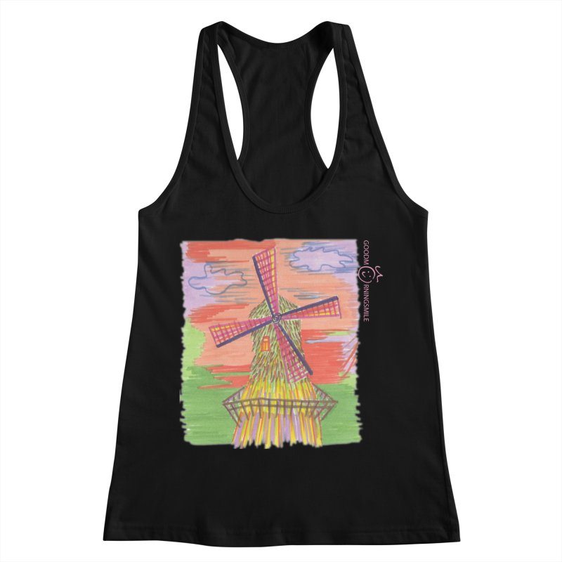 Amsterdam Women's Racerback Tank by Good Morning Smile