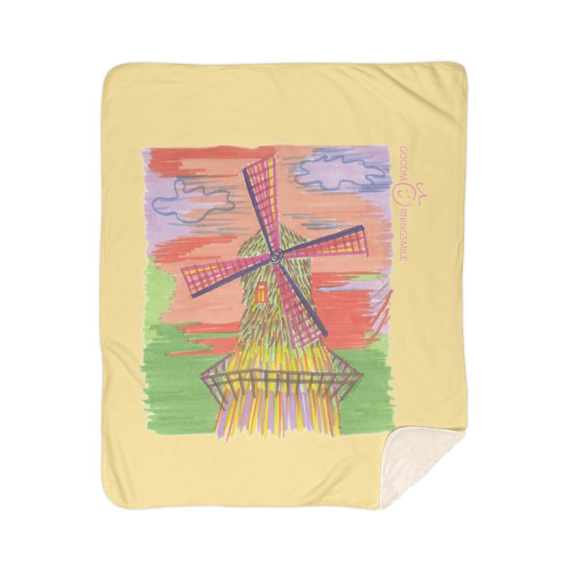 Amsterdam Home Sherpa Blanket Blanket by Good Morning Smile