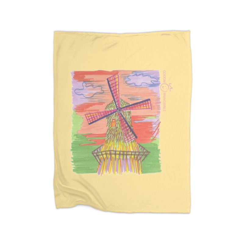 Amsterdam Home Fleece Blanket Blanket by Good Morning Smile