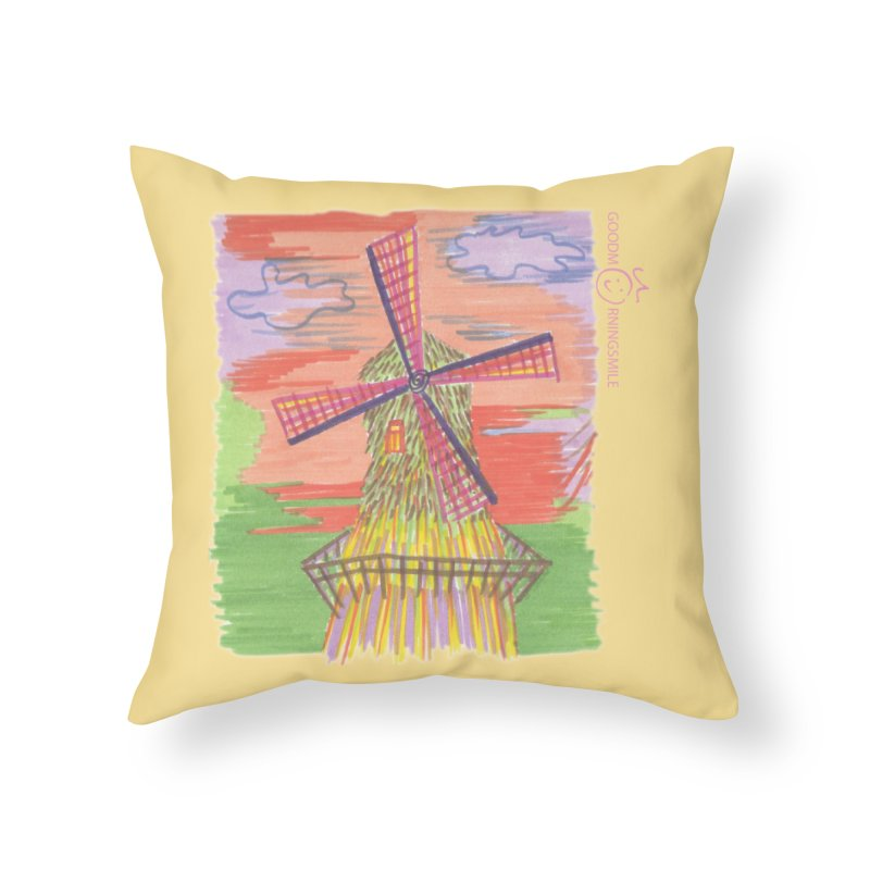 Amsterdam Home Throw Pillow by Good Morning Smile