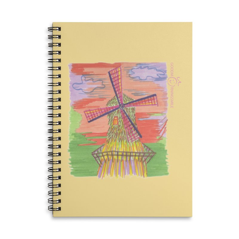 Amsterdam Accessories Lined Spiral Notebook by Good Morning Smile