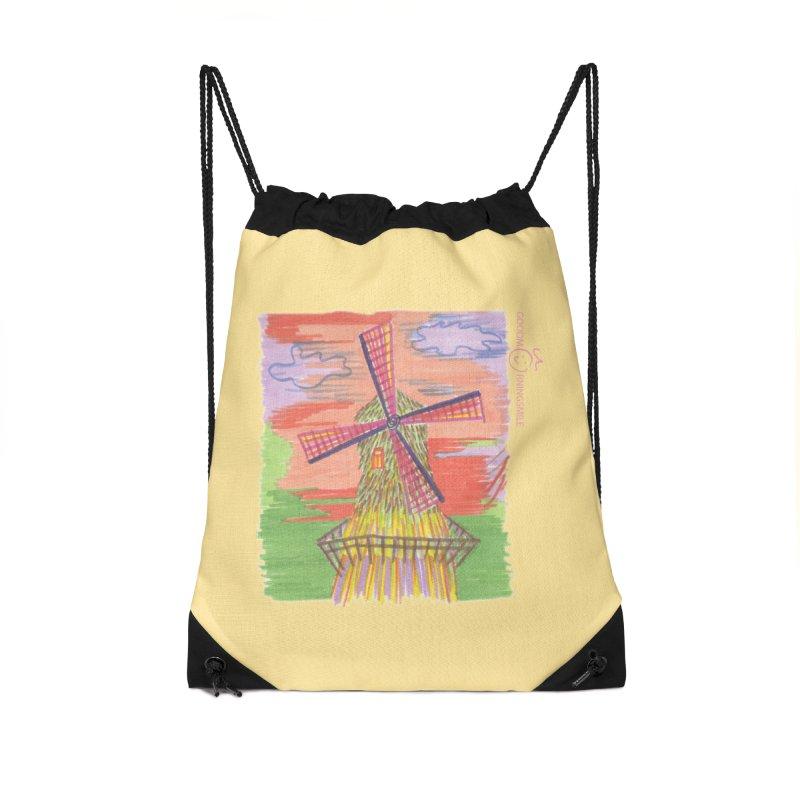 Amsterdam Accessories Drawstring Bag Bag by Good Morning Smile