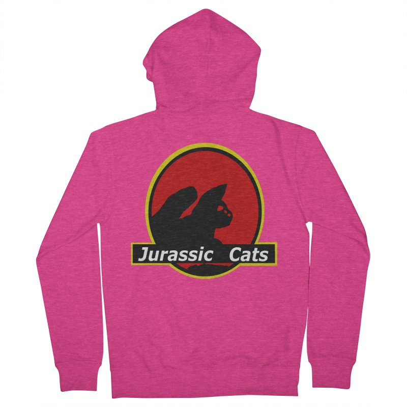 Jurassic Cats Women's French Terry Zip-Up Hoody by Roe's Shop