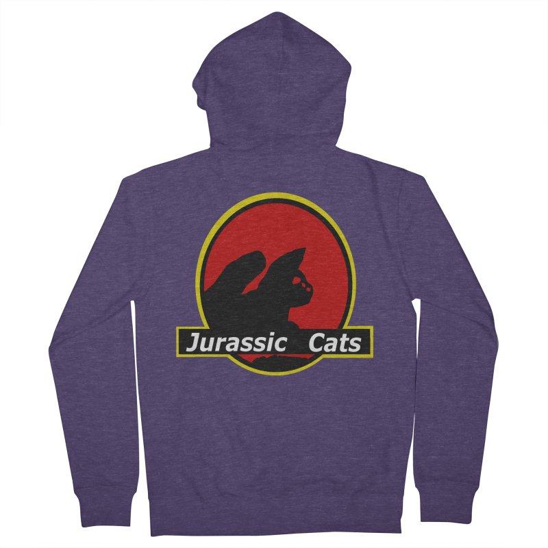 Jurassic Cats Men's Zip-Up Hoody by Roe's Shop