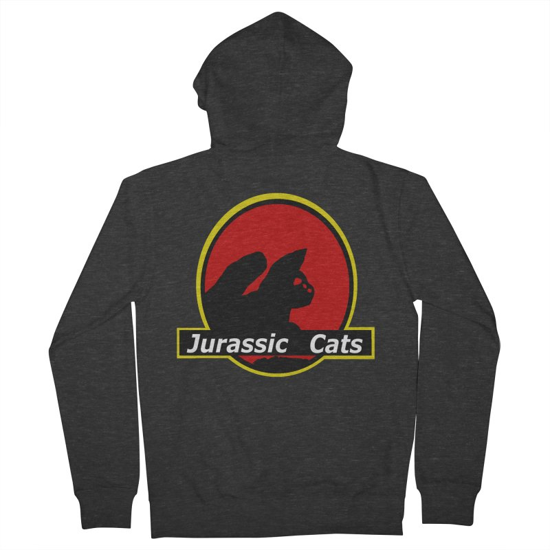 Jurassic Cats Men's Zip-Up Hoody by Roe's Shop