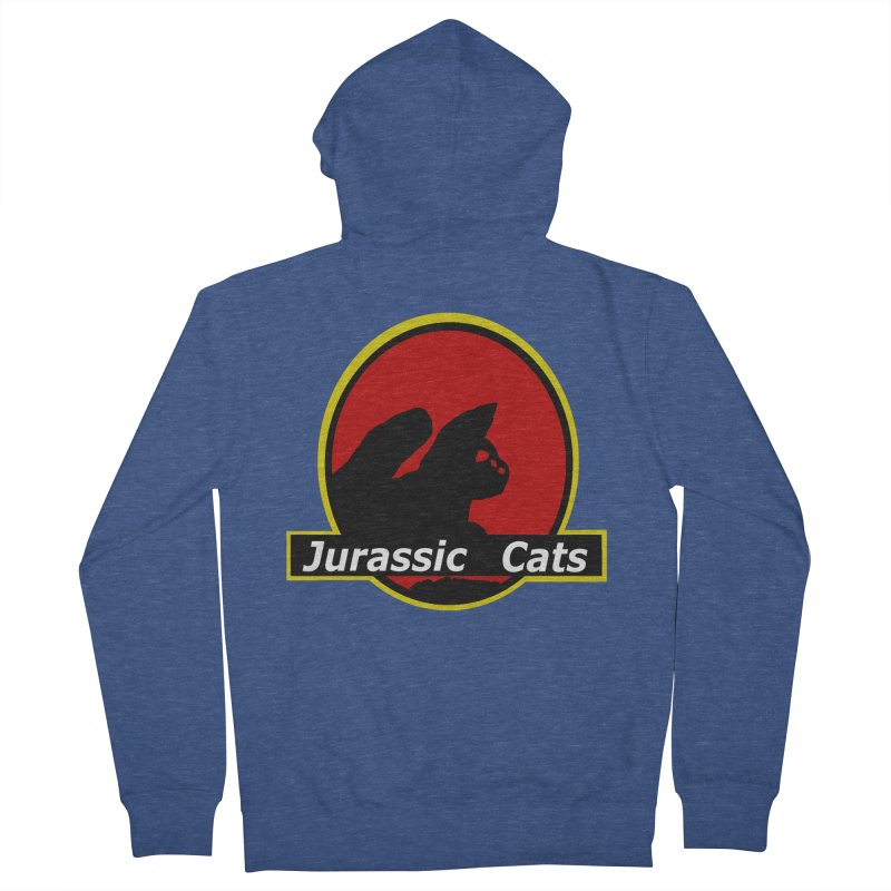 Jurassic Cats Men's French Terry Zip-Up Hoody by Roe's Shop