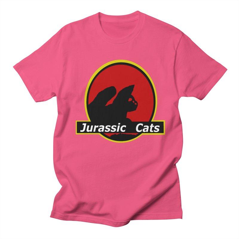 Jurassic Cats Men's T-Shirt by Roe's Shop