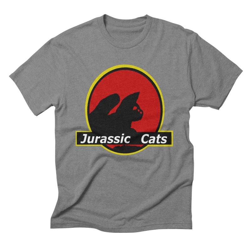 Jurassic Cats Men's Triblend T-Shirt by Roe's Shop