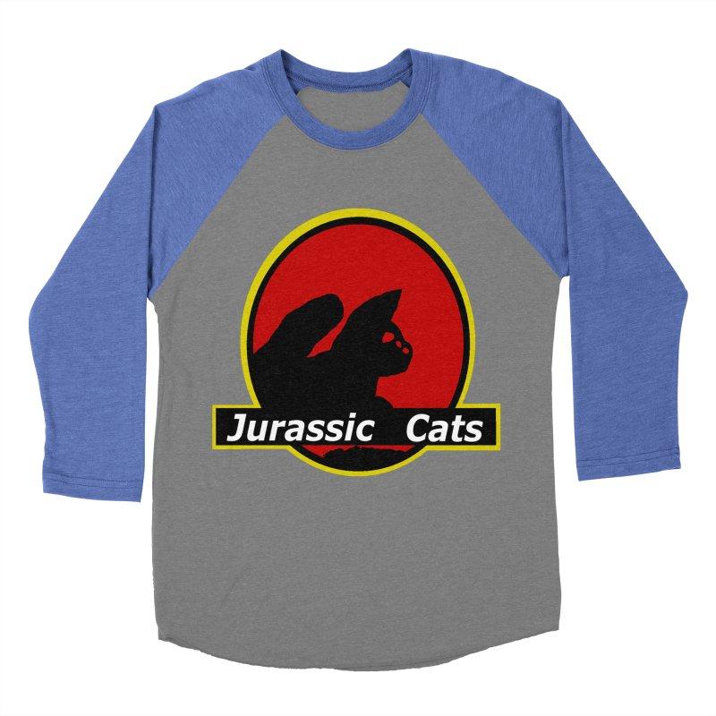 Jurassic Cats Women's Baseball Triblend T-Shirt by Roe's Shop