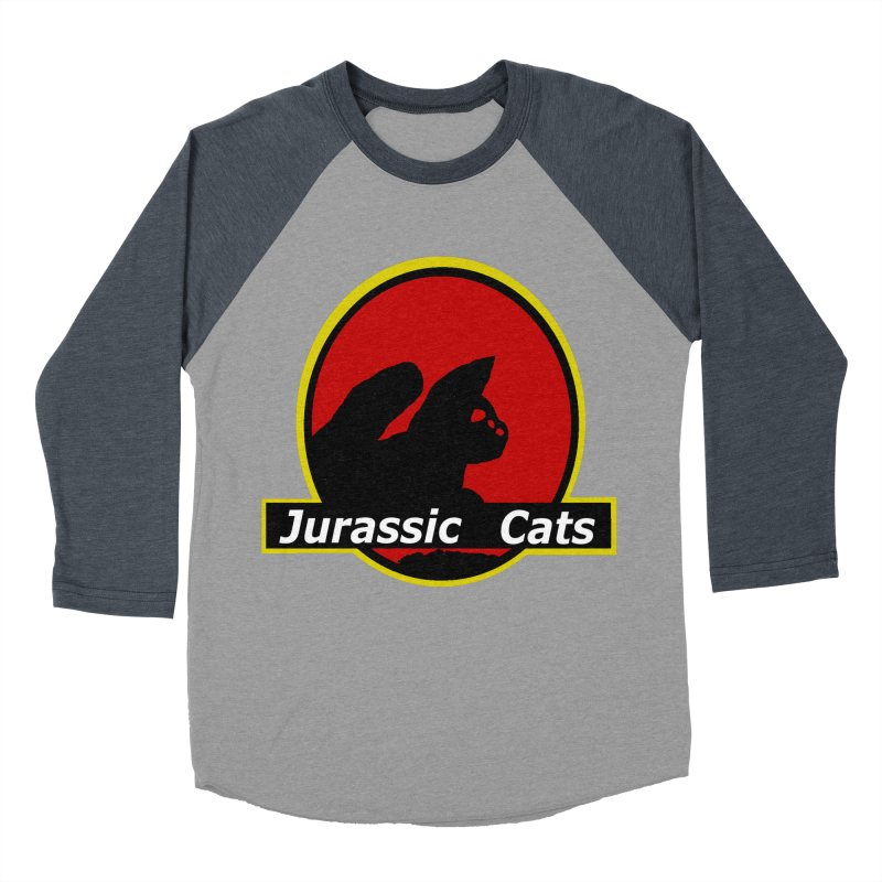 Jurassic Cats Men's Baseball Triblend T-Shirt by Roe's Shop