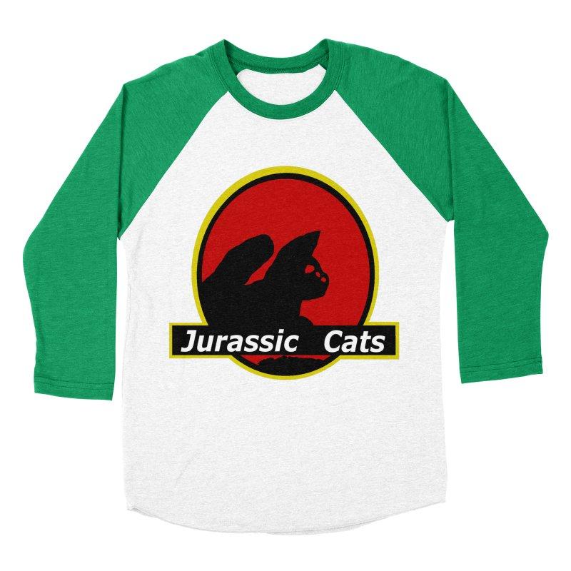 Jurassic Cats Men's Baseball Triblend T-Shirt by Roe's Shop