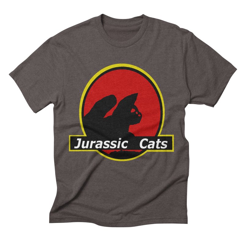 Jurassic Cats Men's Triblend T-shirt by Roe's Shop