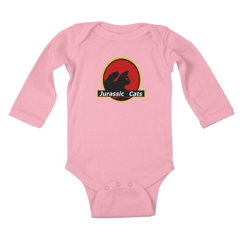 Jurassic Cats Kids Baby Longsleeve Bodysuit by Roe's Shop
